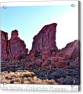 Early Morning Mystery Valley Colorado Plateau Arizona 05 Text Acrylic Print