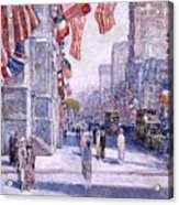 Early Morning On The Avenue In May 1917 - 1917 Acrylic Print