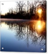 Early Morning On The Canal Acrylic Print