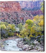 Early Morning On The Virgin River Acrylic Print