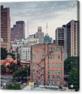 Early Morning Panorama Of Downtown San Antonio Skyline And Architecture - Bexar County Texas Acrylic Print