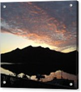 Early Morning Red Sky Acrylic Print