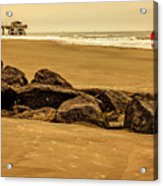 Early Morning Tybee Beach Acrylic Print