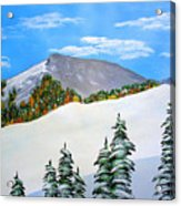 Early Sierra Snow At Ridgeline Acrylic Print