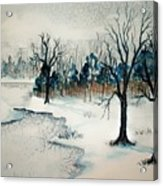 Early Snow Acrylic Print