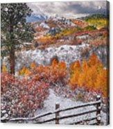 Early Snowfall At Dallas Divide Acrylic Print