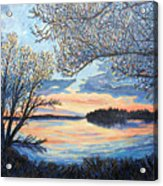 Early Spring Sunset Acrylic Print