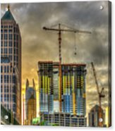 Early Start Skyscraper Construction Atlanta Georgia Art Acrylic Print