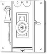 Early Telephone Line Drawing Acrylic Print