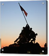Early Washington Mornings - Iwo Jima Memorial Acrylic Print