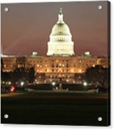 Early Washington Mornings - Us Capitol In The Spotlight Acrylic Print