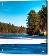 Early Winter On Old Forge Pond Acrylic Print