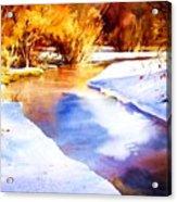 Early Wyoming Snow Acrylic Print