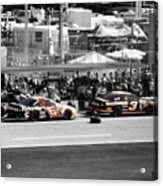 Earnhardt And Martin In The Pits Acrylic Print