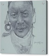 Earrings And Bandana Acrylic Print