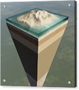 Earth Core Structure Cut-away Acrylic Print