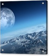 Earth Icy Ocean Aerial View Acrylic Print