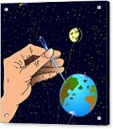 Earth Like An Inflatable Balloon Acrylic Print
