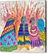 Earth Mothers - Feeding  The Fire Acrylic Print
