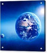 Earth Sunrise Deep Space Acrylic Print