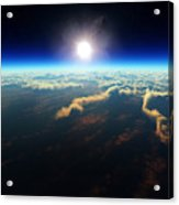 Earth Sunrise From Outer Space Acrylic Print