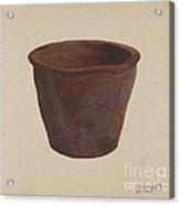 Earthenware Bowl Acrylic Print