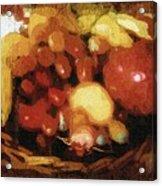Earthtone Fruit Fresco Acrylic Print
