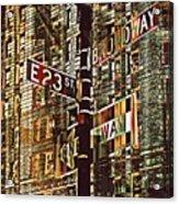 East 23rd And Broadway Acrylic Print by Teodoro De La Santa