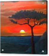 East African Sunset Acrylic Print