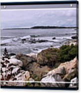 East Boothbay, Maine Ocean View, Framed Acrylic Print