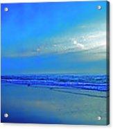 East Coast Florida Daytona Beach Morning Walkers   Acrylic Print