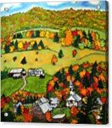 East Corinth Village Acrylic Print