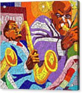 East Eleventh Street Tile Mural Austin Acrylic Print