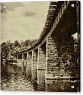 East Falls Rail Road Bridge Acrylic Print