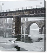 East Falls - The Frozen Schuylkill River Acrylic Print
