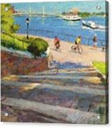 East River From Carl Schurz Park Acrylic Print