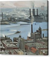 East River From Shelton Hotel Acrylic Print