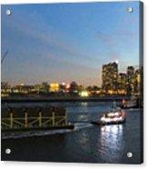East River Traffic New York Acrylic Print