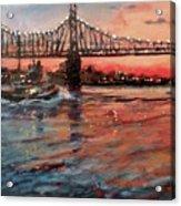 East River Tugboats Acrylic Print