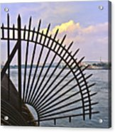 East River View Through The Spokes Acrylic Print