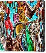 East Side Gallery Acrylic Print by Joan Carroll