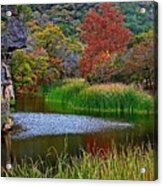 East Trail Pond At Lost Maples Acrylic Print