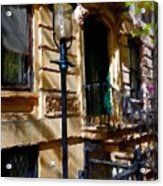 East Village New York Townhouse Acrylic Print