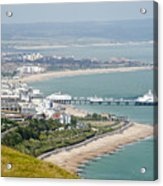 Eastbourne From Beachy Head Sussex Uk Acrylic Print