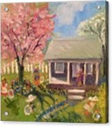 Easter At My House Acrylic Print