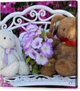 Easter Bunnies Acrylic Print