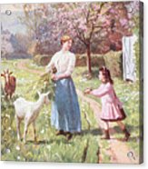 Easter Eggs In The Country Acrylic Print by Victor Gabriel Gilbert
