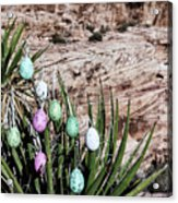 Easter Eggs On The Tree Acrylic Print