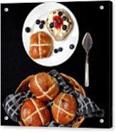 Easter Hot Cross Buns  Acrylic Print