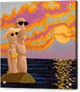 Easter Island Sunset Acrylic Print